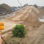 Násypy k mostní konstrukci - Polsko, Kutno